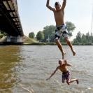 Summer plunge